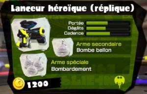 lanceur héroique (réplique)