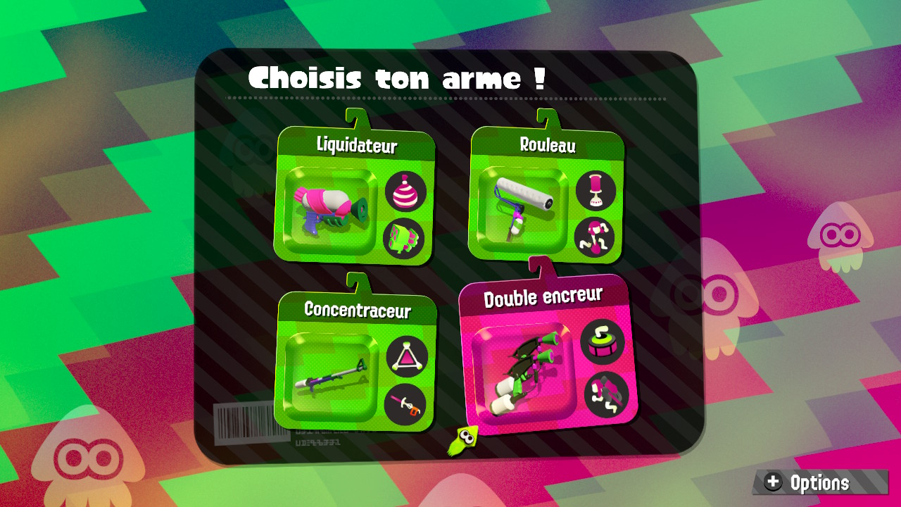 Splatoon2-armes